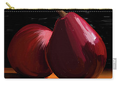 Peach And Pear 01 Carry-all Pouch by Wally Hampton