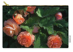 Carry-all Pouch featuring the photograph Peach Begonia by Ann Jacobson