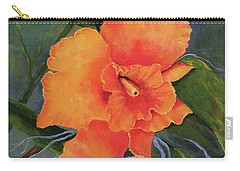 Peach  Blush Orchid Carry-all Pouch