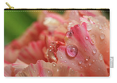Peach And Pink Carnation Petals Carry-all Pouch