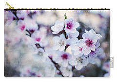 Peach Flowers Carry-all Pouch