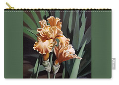 Peach Iris Carry-all Pouch