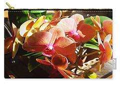 Peach Orchid Blossoms Carry-all Pouch
