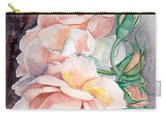 Peach Perfect - Painting Carry-all Pouch by Veronica Rickard