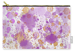 Peach Pink Watercolor Abstract Carry-all Pouch