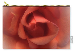 Peach Rose Carry-all Pouch