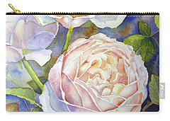 Peach Roses Carry-all Pouch by Bonnie Rinier