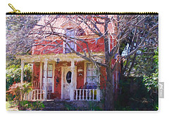Peach Tree Bed And Breakfast Carry-all Pouch by Susan Crossman Buscho