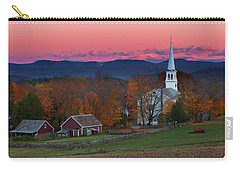 Peacham Village Fall Evening Carry-all Pouch