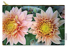 Peachy Chrysanthemums Carry-all Pouch