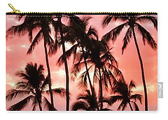 Peachy Palms Carry-all Pouch