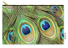 Living Peacock Abstract Carry-all Pouch