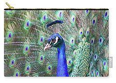 Peacock Bloom Carry-all Pouch by Steve McKinzie