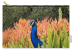 Peacock Blues Carry-all Pouch