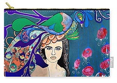 Peacock Bride Carry-all Pouch