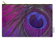 Peacock Candy Purple  Carry-all Pouch by Mindy Sommers