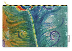 Peacock Feather Mural Carry-all Pouch by Agata Lindquist