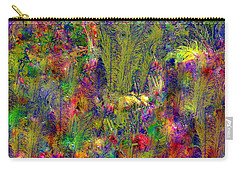 Carry-all Pouch featuring the photograph Peacock Feathers by EDi by Darlene