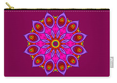 Peacock Fractal Flower II Carry-all Pouch