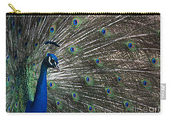 Carry-all Pouch featuring the photograph Peacock II by Lisa L Silva