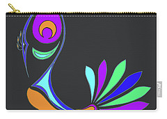 Peacock Impressions Carry-all Pouch