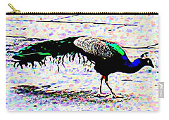 Peacock In Abstract Carry-all Pouch