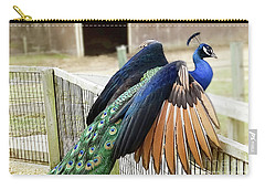 Peacock In Flight Carry-all Pouch by Melissa Messick