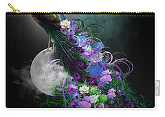 Peacock Of  Flowers Carry-all Pouch