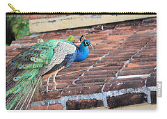 Peacock On Rooftop Carry-all Pouch