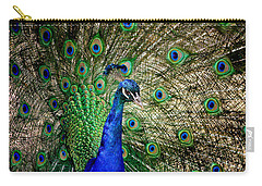 Peacock Open Tail Carry-all Pouch