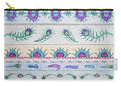 Peacock Pattern Carry-all Pouch by Rebecca Davis