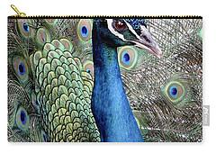 Peacock Portrait Carry-all Pouch by Bob Slitzan