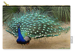 Peacock Showing All Feathers Carry-all Pouch