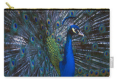 Carry-all Pouch featuring the photograph Peacock Splendor by Marie Hicks