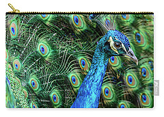 Carry-all Pouch featuring the photograph Peacock by Steven Sparks