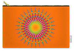 Peacock Sun Mandala Fractal Carry-all Pouch