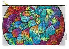 Peacock Tail Mandala Carry-all Pouch
