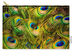 Peacock Tails Carry-all Pouch