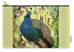 Peacock Time Carry-all Pouch