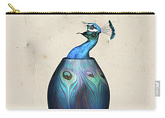 Peacock Vase Carry-all Pouch by Keshava Shukla