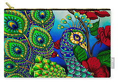 Peacock Zentangle Inspired Art Carry-all Pouch