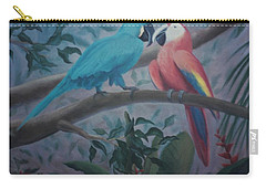 Peacocks In The Jungle Carry-all Pouch
