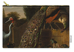 Peacocks Carry-all Pouch by Melchior d'Hondecoeter