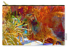 Carry-all Pouch featuring the photograph Peahen In Winter Garden I by Anastasia Savage Ealy