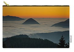 Peaks Above The Fog At Sunset Carry-all Pouch