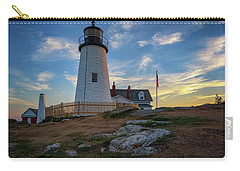 Pemaquid Point Lighthouse At Sunset Carry-all Pouch