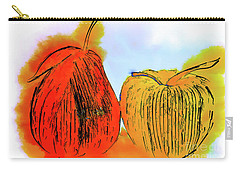 Pear And Apple Watercolor Carry-all Pouch
