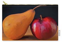 Pear And Plum 01 Carry-all Pouch by Wally Hampton