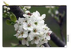 Carry-all Pouch featuring the photograph Pear Blossoms In Spring by Sheila Brown