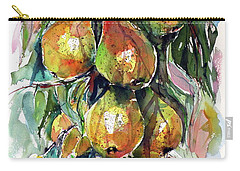 Carry-all Pouch featuring the painting Pear by Kovacs Anna Brigitta